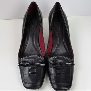 Cole Haan Heels Pumps Leather Slip On  Bow Black